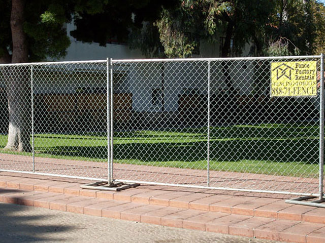 Construction freestanding fence panel rental in ventura
