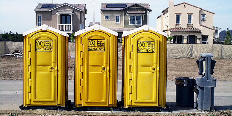 Customer rented affordable portable toilets near Sunnyside in Fresno CA for job site.
