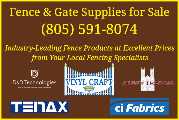 Fencing Materials and Gate Supplies near San Fernando Rd, Atascadero CA from Fence Factory Rentals.
